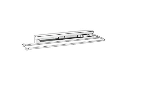 2 Shelf Chrome Cabinet - Rev-A-Shelf - 563-51-C - Chrome Under Cabinet 2-Prong Pullout Towel Bar