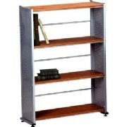 Eastwinds Accent Shelving 4 Shelves Bookcase Color: Medium Cherry ()
