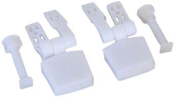 MSV 140333 bisagras de plá stico para WC Tapa de Madera de Densidad Media/Acero Inoxidable-White, 12 x 5 x 3 cm 972/140333