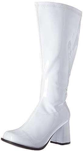 Ellie Shoes Women's GOGO-W Knee High Boot, White, 6 M US -