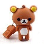 8GB USB Flash Drive with Cute Rilakkuma Shape 8G Memory Stick U Disk - Brown (Rilakkuma School Supplies)
