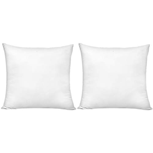 HIPPIH 2 Pack 18 x 18 Inch Pillow Inserts, Hypoallergenic Decorative Square Pillow Form Insert, Upgraded