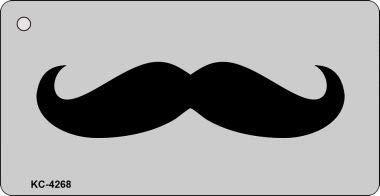 Bargain World Mustache Novelty Key Chain (Sticky Notes)