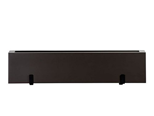 42 Inch Modern Fiberglass Window Box Planter Painted Bronze Black Fiberglass Window Box