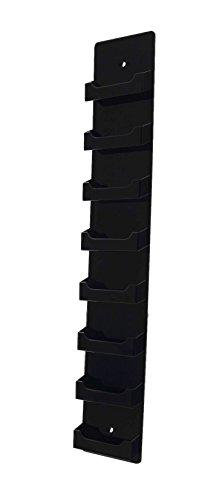 (Marketing Holders Vertical Business Card Holder Wall Mount Display Rack 8 Pocket Premium Acrylic Black)