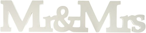 Ginger Ray Vintage Affair Mr. & Mrs. Wooden Wedding Sign, - Sign Ray