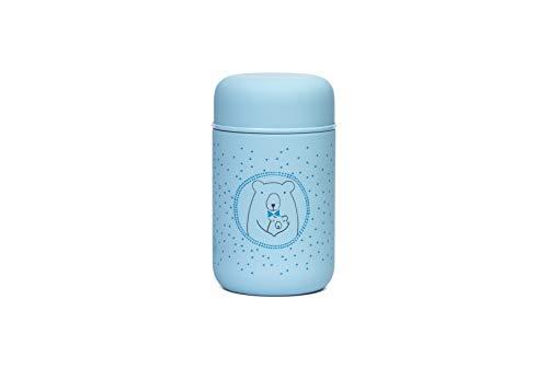Suavinex 305916 - Suavinex, Termo Papillero para Bebe Acero Inoxidable Cierre Hermetico, 350Ml Color Azul, ninos