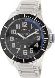 Tommy Hilfiger Men's 1791074 Silver Stainless-Steel Analog Quartz Watch