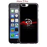 iPhone 7 Plus Case, Dodge Hellcat Logo Drop Protection Never Fade Anti Slip Scratchproof Black Hard Plastic 3D Case