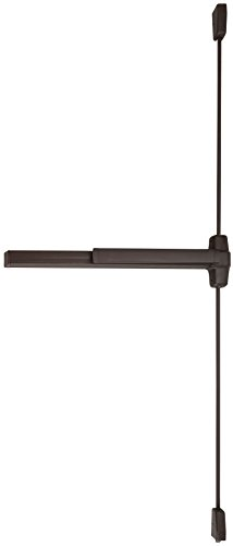 Von Duprin 9927EO-F Fire Rated Surface Mounted Vertical Rod Exit Device from the 99 Series for 3' Wide Doors, Duranodic Dark Bronze Finish (Von Duprin Panic Hardware)