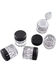 5 Pcs Luxury Empty Plastic Mini Makeup Loose Powder Box Cosmetic Eyeshow Powder Bottles Container Concealer Powder Sifter Jar With Screw Lids