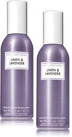 Bath and Body Works 2 Pack Linen and Lavender Room Spray 1.5 -
