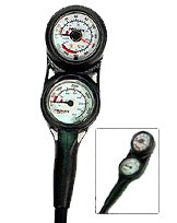 Promate Mini Scuba Diving Pressure and Depth Gauge with Compass Console (Made in Italy) by Promate