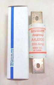 Gould Shawmut Amp Trap Fuse - A4J200 GOULD SHAWMUT 200 AMP 600V AMP-TRAP FUSE CLASS J CURRENT LIMITING 200K, 200A
