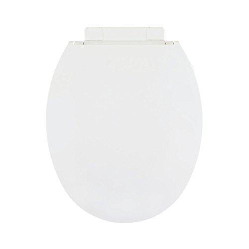 Centoco 1400SC-001 Plastic Round Toilet Seat with Closed Front, White