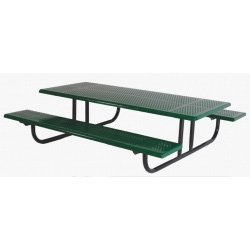 Sports Play 602-705 Early Years Rectangular Picnic Table - 8 Rolled Edge Perforated Steel - Edge Perforated Picnic Table