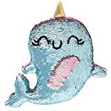 Fashion Angels Magic Sequin Narwhal Decorative Plush,