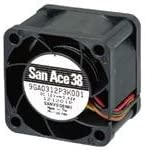 10500RPM 13.1CFM 43dBA GuideVane Tach 3 Wire Leads SANYO Denki 9GV0312E301 DC Fan SQ38x28mm 12VDC 0.21A Plastic F//B