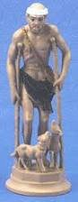 """Small St. Lazarus Statue, Auto Statue, 4"""" Car Statues the Base of Each Auto Statue Is Magnetic and Adhesive."""