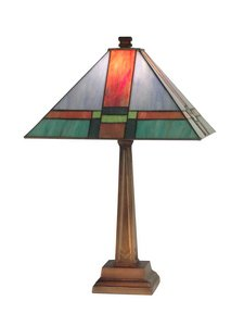 (Dale Tiffany TT11047 Tranquility Mission Table Lamp, Antique)