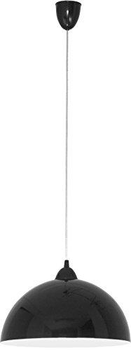 Pendelleuchte rund/schwarz/weiß / E27 bis zu 100 Watt 230 V/Hängelampe 33cm / Pendellampe Esstisch Küche/Wohnzimmer Lampe modern/Beleuchtung innen