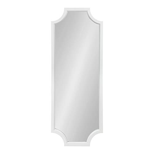 Kate and Laurel Hogan Wood Framed Full-Length Wall Mirror with Scallop Corners, 18x48 Inches, ()