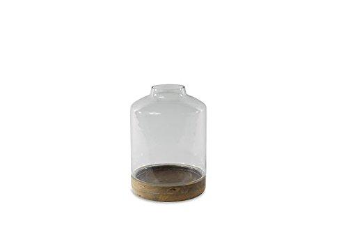 da non perdere! Nkuku Igara in vetro e base in in in legno di mango Terrarium Planter di  marchi di moda