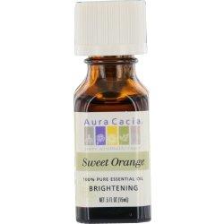 Aura Cacia Essential Oil, Orange Sweet/Citrus Sinensis, 0.5 (Orange Massage Oil)