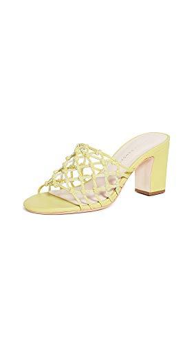 Loeffler Randall Women's Tyler-N Heeled Sandal, Key Lime, 7.5 Medium US