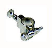 Soporte atril de trompeta plateado,Ø 14 mm