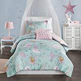 (Mi Zone Kids Darya Printed Mermaid Comforter Set, Full/Queen, Aqua/Pink)