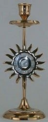 """Price comparison product image Brass Candle Holders - Brass 8"""" Sun Design Mother Pearl Tap"""