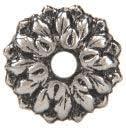 CRL 3 4 Antique Silver Floral Metal Mirror Rosette – Bulk Package