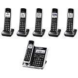 Panasonic KX-TG886SK ( 6 Handset ) Cordless Phone Answering System with link2Cell DECT 6.0 Technology - Base KX-TG885SK , H/S KX-TGFA61B (Renewed)