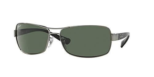 Ray-Ban RB3379 Sunglasses - Polarized Gunmetal/Crystal Polar Natural Green, One Size