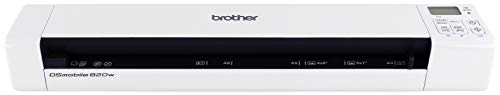 (Brother Mobile Color Page Scanner, DS-820W, Wi-Fi Transfer, Fast Scanning, Compact and Lightweight)