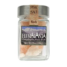 Rock Pink Salt with Grater Glass Jar 7 Ounces (Case of 12) by Himalania