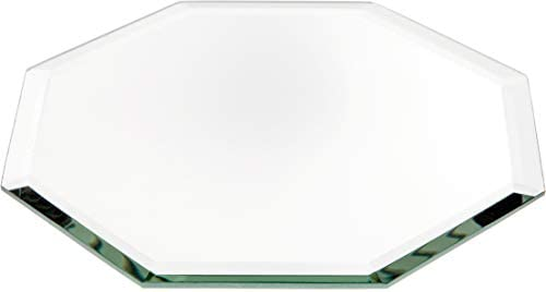 Plymor Octagon 3mm Beveled Glass Mirror, 5 inch x 5 inch Pack of 24