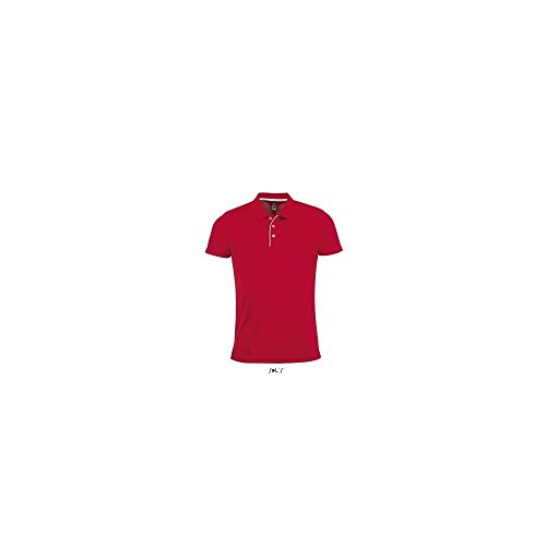 SOL´S Mens Sports Polo Shirt Performer, L, Red