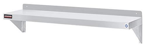 Commercial Stainless Wall Steel Shelf (Stainless Steel Wall Shelf by DuraSteel - 48