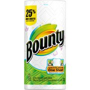 Bounty Super Roll Select-A-Size Prints 1 Roll 129 Sheets one roll/pk
