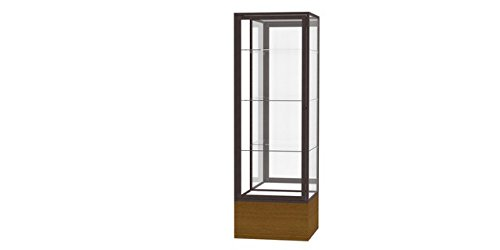 Waddell 4024MB-BZ-AK Keepsake 24 x 72 x 24 in. Autumn Oak Floor Display Case with Veneer Base44; Mirror Back - Dark Bronze