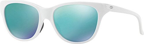 Oakley Women's Hold Out Non-Polarized Iridium Cateye Sunglasses, Polished White, 55 - Womens Oakley Sunglasses White