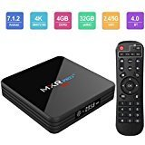 Android TV Box, Superpow MXR Pro Plus Android 7.1 TV Box with 4GB RAM 32GB ROM RK3328 Quad-core, Support 4K Full HD Dual-Band Wi-Fi 2.4/5Ghz BT 4.0 Mini Box with Remote Control