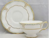 Royal Crown Derby Lombardy Footed Cup & Saucer Set
