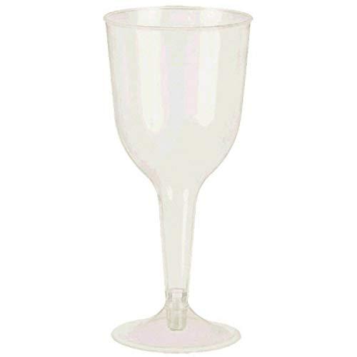 White Stemware Wine (Pearl White Premium Plastic Wine Glasses   10 oz.   Party Supply   120 ct.)