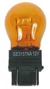 Ge Miniature Lamps 3157na/Bp2 12 V Amber 2 / Carded -
