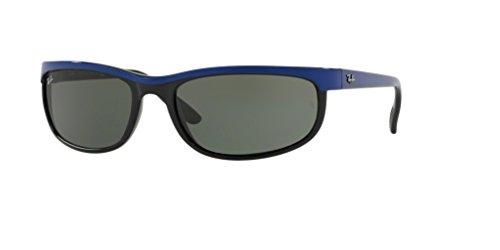 Ray-Ban RB2027 PREDATOR 2 6301 62M Top Blue On Black/Green Sunglasses For Men For ()