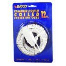 SATCO 12' COILED EXTENSION CORD-RED model number 93-174-SAT