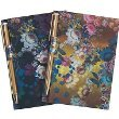 Cynthia Rowley Memo Pads with Pens - Set of 2 - Black Cosmic Floral Pattern